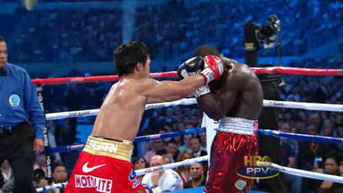 Manny Pacquiao Double Fist Clap Punch Pompyang Clottey Video