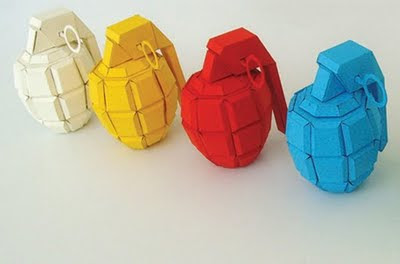 paper grenade Hand grenade paperweight pineapple cut - perfect paperweights for home or office, 1:1 scale size, has been permanently disengaged for display purposes only this.