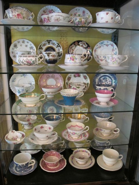 No Doors: Old Teacups, an Antique Cabinet and a Fancy Party