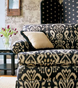 No Doors  Ikat Upholstered Sofa
