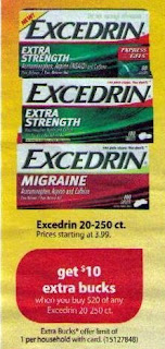 excedrin CVS Deals and Scenarios 12/14 12/20
