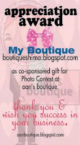APPRECIATION BANNER FROM A'AN BOUTIQUE