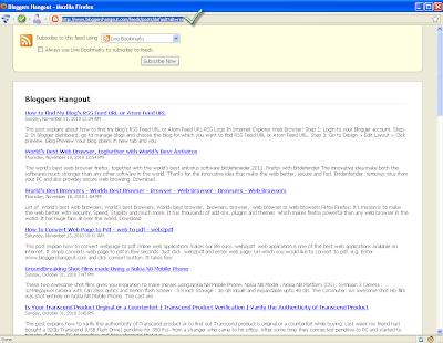 RSS Feed URL In Firefox