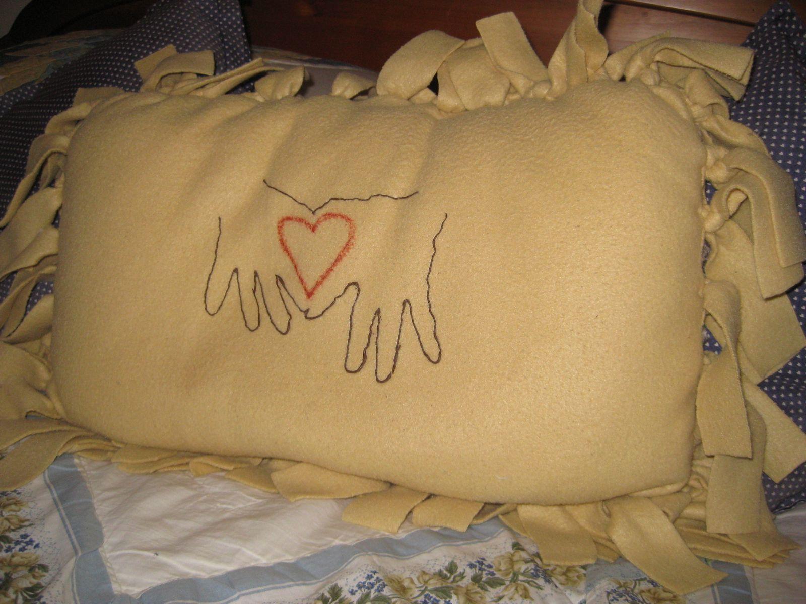 Fleece Heart Pillow Craft