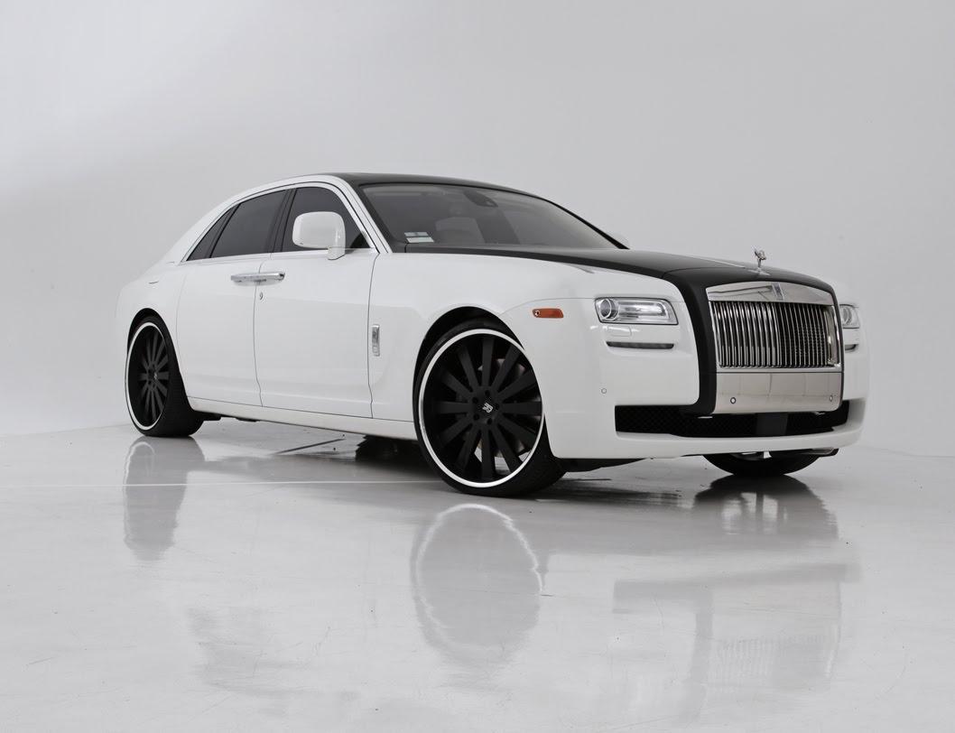 rolls royce phantom white with black rims. rolls royce ghost phantom white with black rims