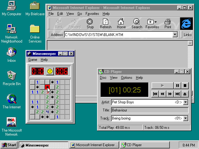 Opera windows 95 - 2d