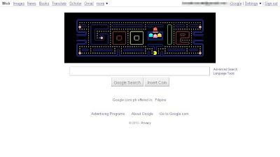 Google logo Pac-Man edition