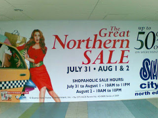 SM North Edsa Great North Sale on Jul 31-Aug 2