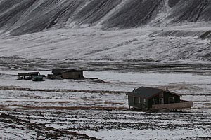 Summer houses outside Longyearbyen