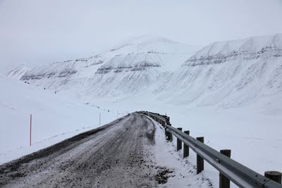 On the road in Longyearbyen