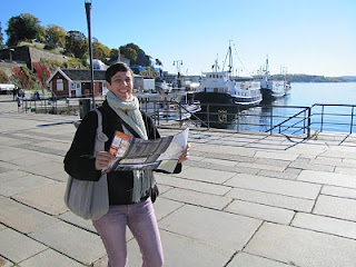 Katja on the Oslo Docks