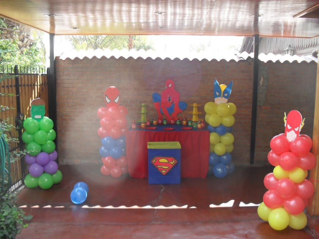Decoracion de cumplea os decoraciom simple mesa spiderman for Ver decoraciones