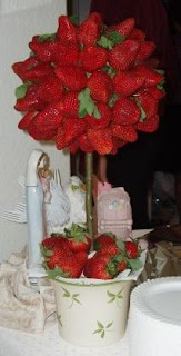 strawberry topiary tree