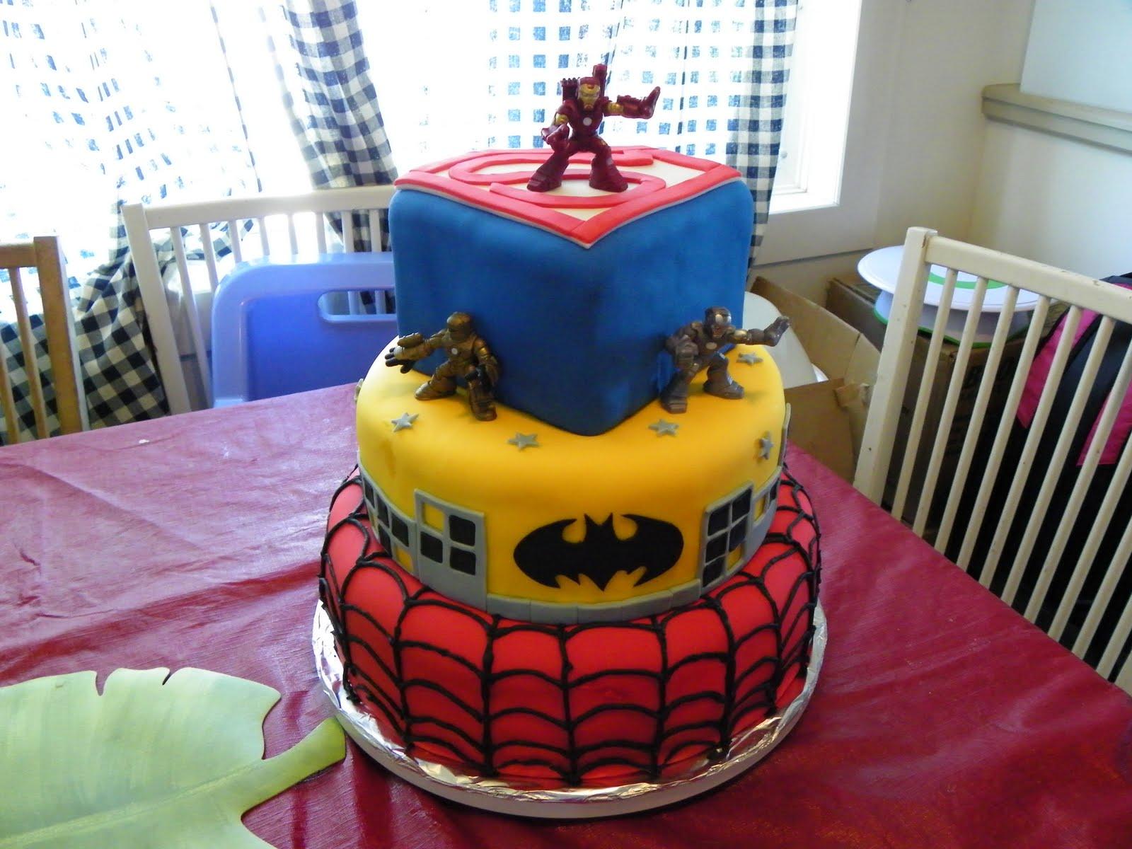 Super Hero Squad Birthday Cake Ideas