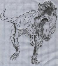 Mis dibujos - Tiranosaurio Rex