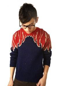 Blue and red jumper