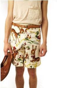 Vintage Bambi style shorts