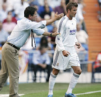 David Beckham and Fabio Capello