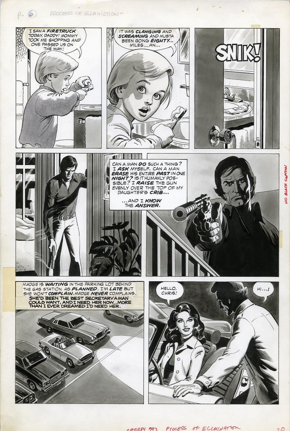 original art stories  the creepy russ heath