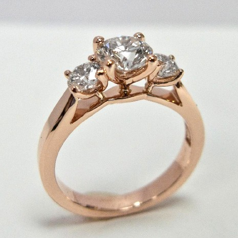 here are some beautiful engagement rings using rose gold a delightful