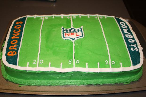 Football Birthday Party Cake