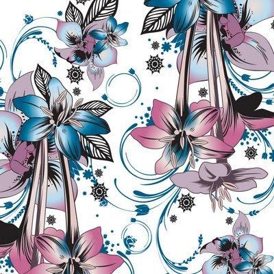 Delicate Flower Pattern Print