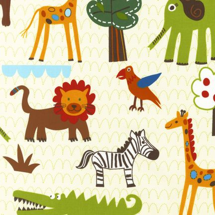 Print pattern fabric round up for Childrens jungle fabric