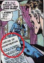 What we all want from superhero comics--legal documents!!