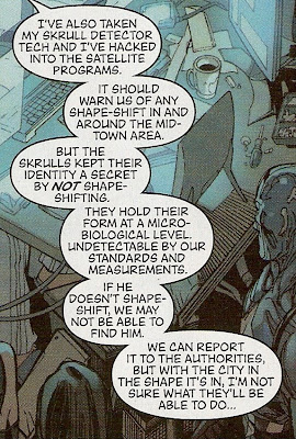 Yes, because the city would have no interest in hunting down Skrull infiltrators...