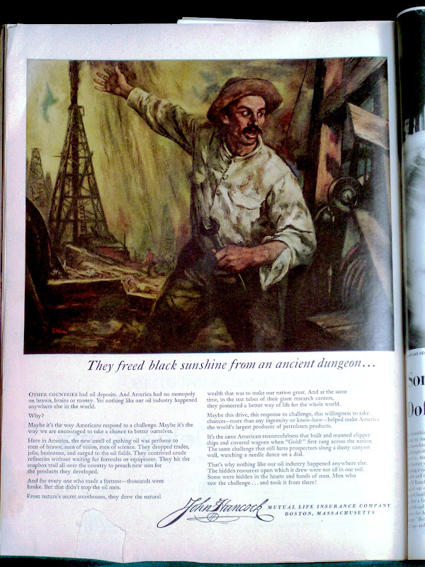 Photo by M-J de Mesterton of an October 1955 Life Magazine Ad for John  title=