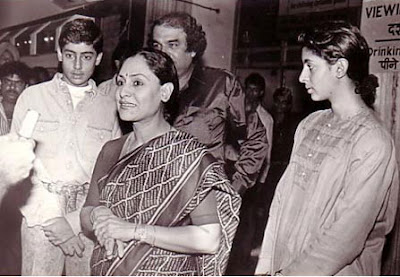 Jaya+Bachan+With+children Amitab Bachan Pics since childhood