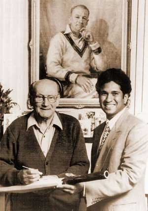 Young Sachin Tendulakar with the Legend