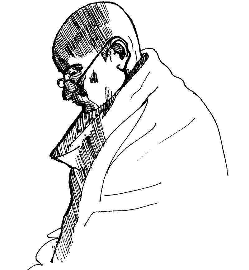 Mahatma Gandhi Line Drawing