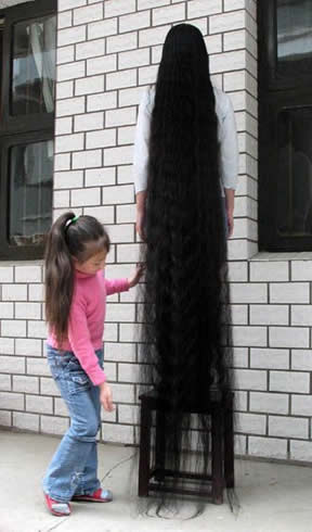 The world Longest hair (girl)
