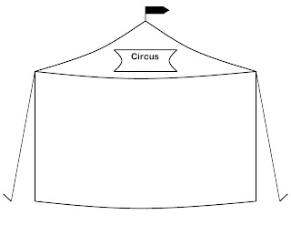Full Page Circus Tent. Happy st&ing and have a great week. Make sure you include the kids when crafting you will be amazed at what they will create.  sc 1 st  Bigfoot u0026 Pickle Faceu0027s Kids Craft Ideas & Bigfoot u0026 Pickle Faceu0027s Kids Craft Ideas: Template Half Page and ...