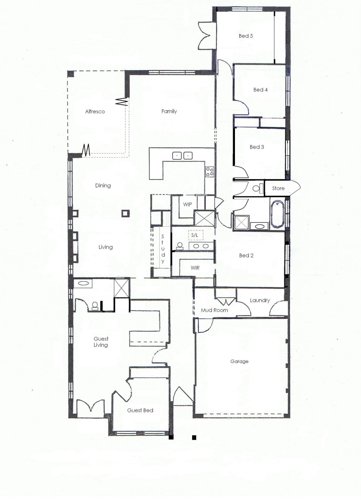 Keeping Up With The Joneses Floor Plan Sketch