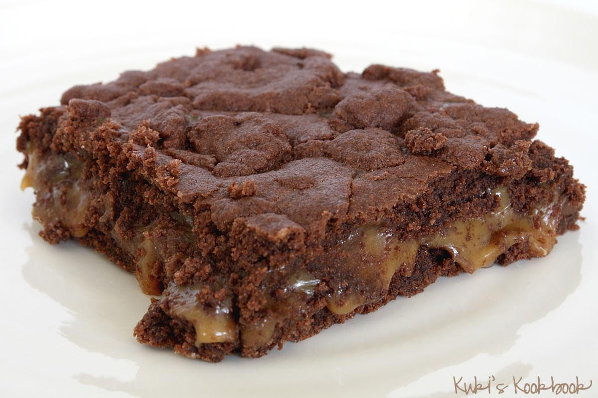 Caramel Brownies Recipe — Dishmaps