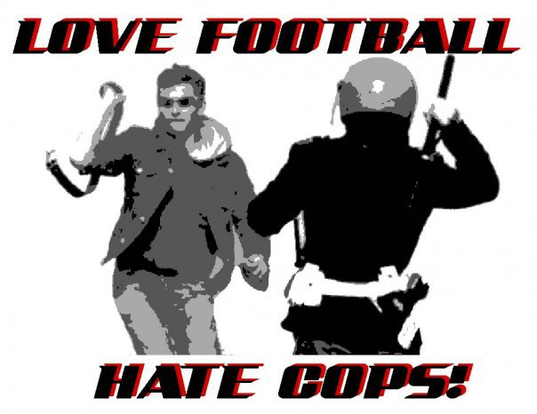 On the terraces love football hate cops picture to pin on for Love on the terraces