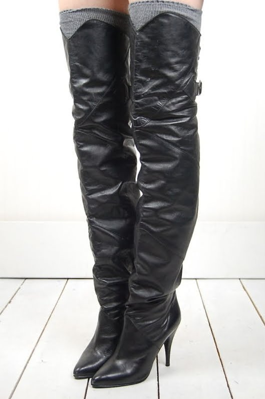 vintage thigh high boots boot hto