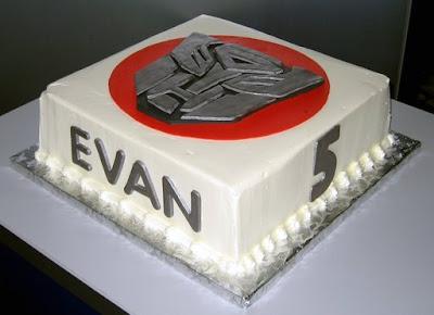Transformer Birthday Cake