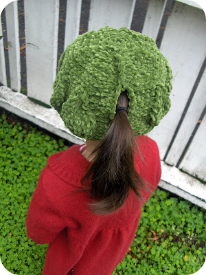 Slouchy Ponytail Hat PDF Pattern for Crochet by stubbornwoman