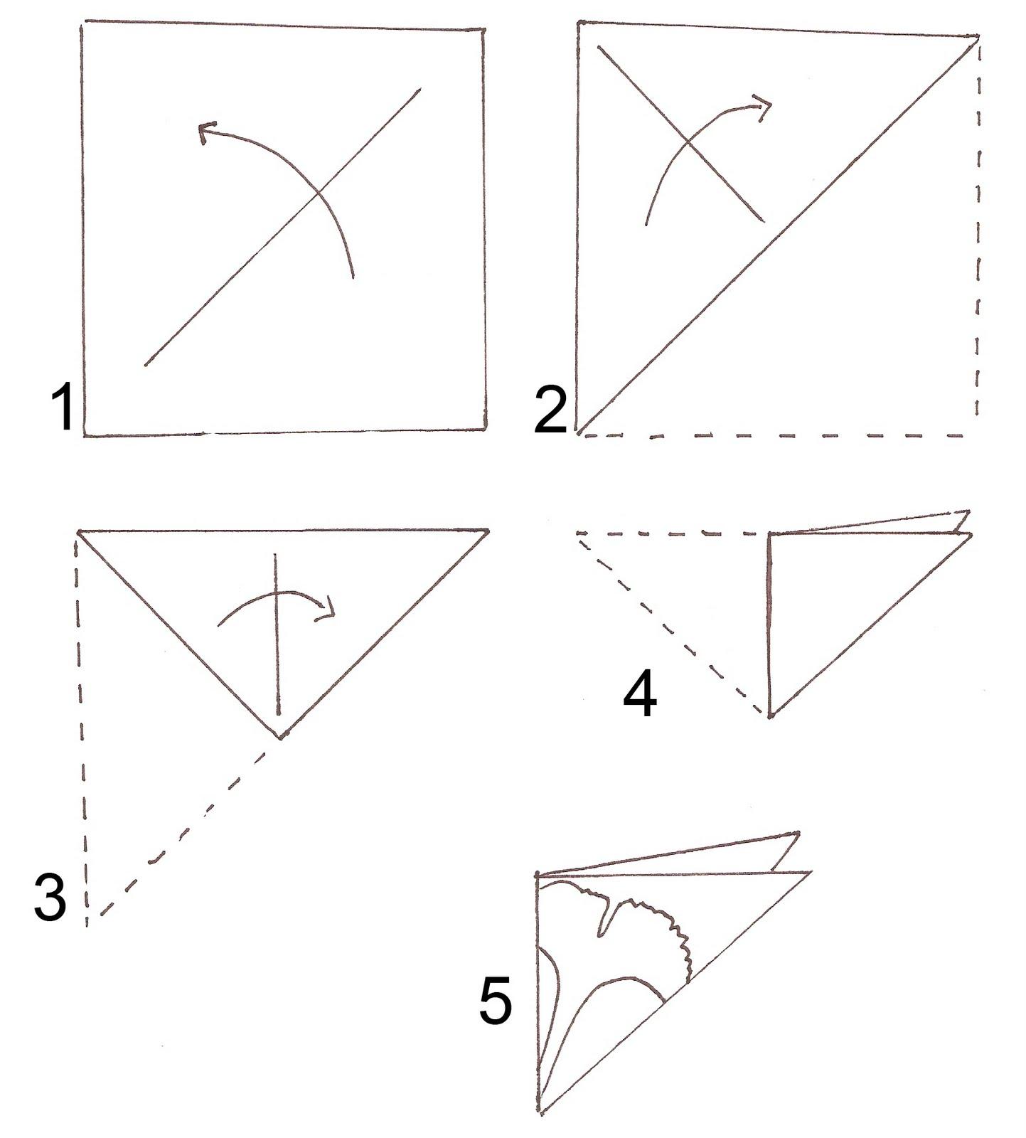 Как вырезать узоры из бумаги  поэтапно 9