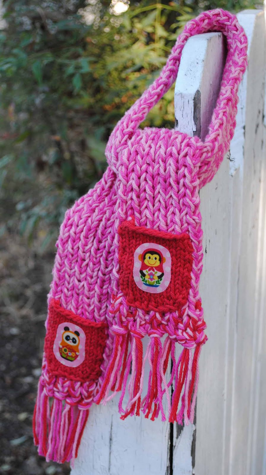 zakka life: Pretty in Pink Child Scarf