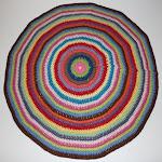 DIY rundt hæklet tæppe