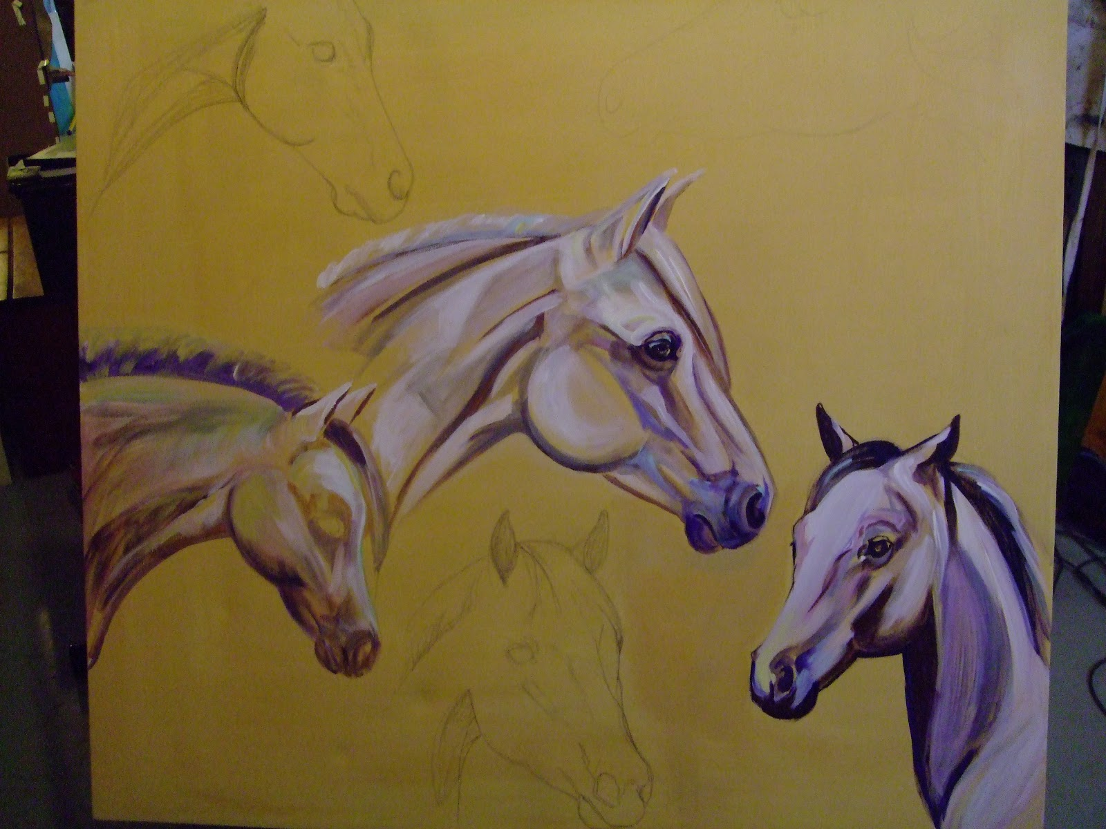 Pony Oil Painting By Justo