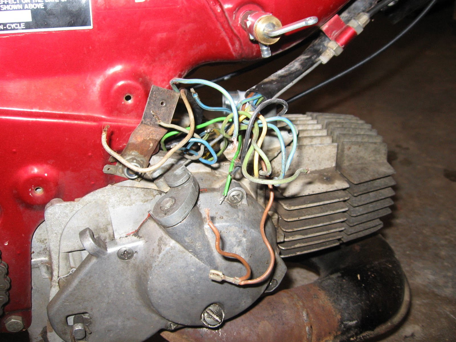 1980 Puch Maxi 1.5 HP Re-Build: Wiring
