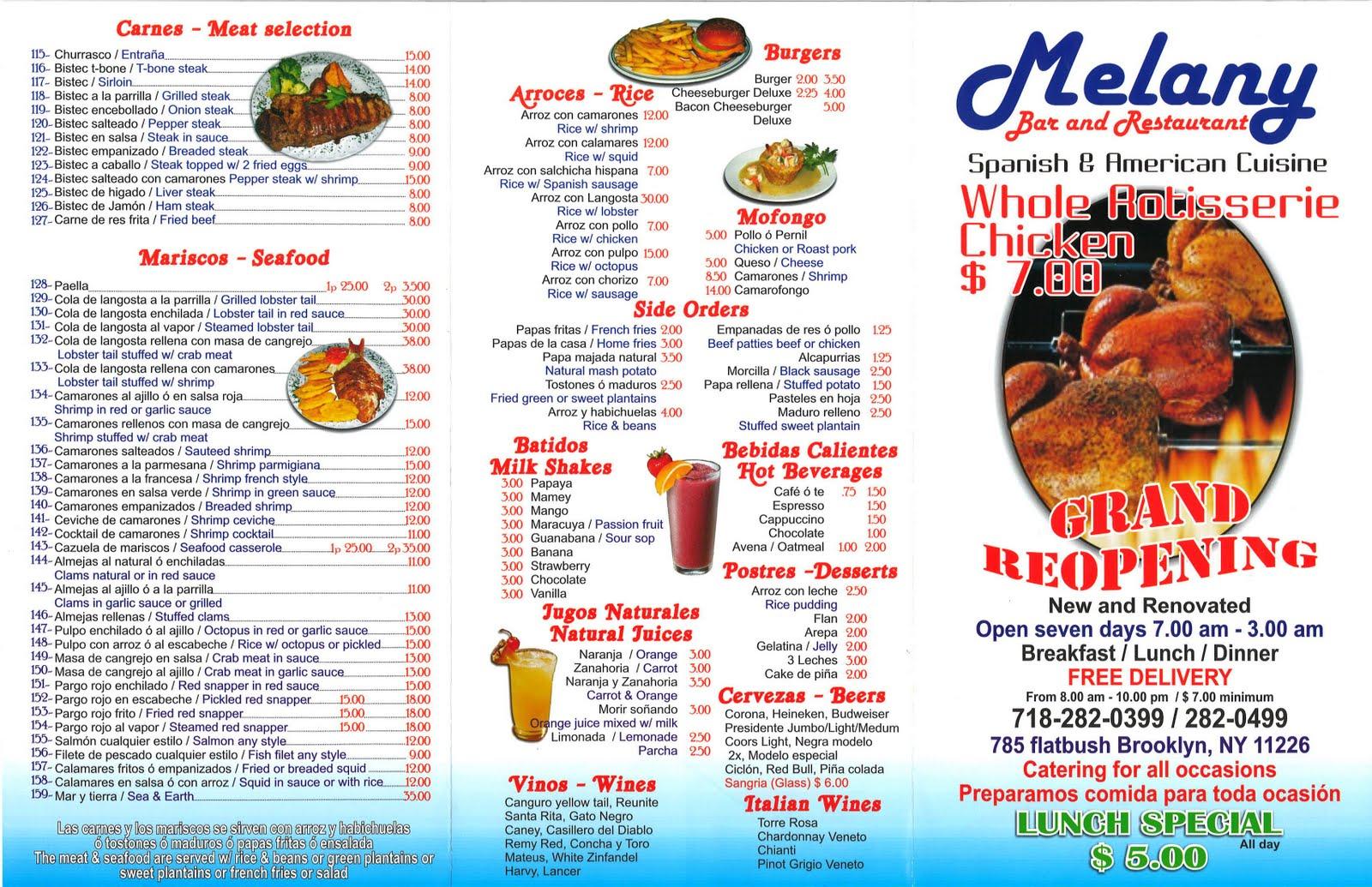 Deer Park Cafe Restaurant Menu