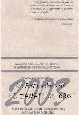 Interior Invitación Festival 2003