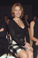 Jessica Biel in a See-Thru Top