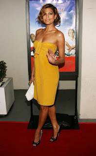 Eva Mendes in a Yellow Dress